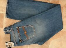 NUDIE JEANS AVERAGE JOE,W30,L34,Blue,Classic Fit,Straight,100%Org.Cotton,Italy,