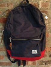 HERSCHEL Canvas Backpack/ Bag  w/ leather detail  ~ School * Work