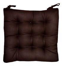 6 Coussins Galettes Dessus de chaise Marron