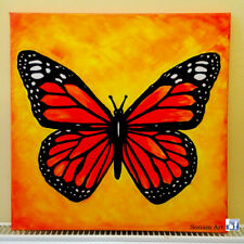 'Summer' Butterfly Painting #2 Hand painted Canvas Painting