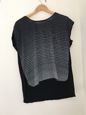 Select Top Black Evening Size 12 Black White Formal <JJ834