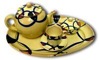 servizio da the ceramica di grottaglie anni 60 design nicola fasano vintage