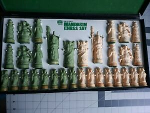 Vintage Rare Beautiful Mandarin figures chess set complete by TAC