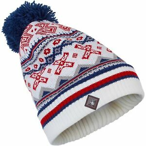 Spyder BELLA Women's Knit Winter Ski Pom Hat - navy - One Size
