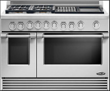 "DCS Professional Style RDV484GGN 48"" Stainless Slide-In Dual-Fuel Range NEW DEAL"