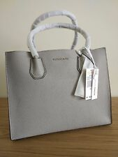 Michael Kors  -  Mercer Large Leather Tote - Pearl Grey Colour