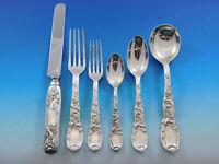 Chrysanthemum by Tiffany Sterling Silver Flatware Set 8 Service 51 pcs Dinner