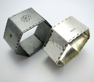 Rare Keswick School of Industrial Arts Sterling Silver Arts & Crafts Napkin Ring