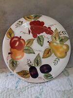 Set of 4 K.I.C Fresh Fruit handpainted dinner plates