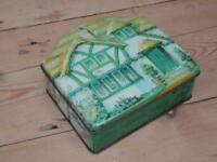 Vintage Tuckers Of Totnes Shaped Tin With Widdecombe Fair Trade Mark Collector G