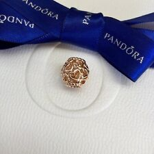 Authentic Pandora Rose Gold Openwork Love Open Your Heart Charm #780964