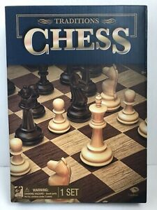NEW Traditions Chess Set Cardinal Games folding chess board Plastic pieces
