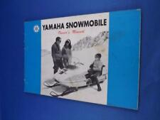 YAMAHA SNOWMOBILE OWNERS MANUAL MODEL SL 338 SL 396 MAINTENANCE