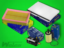 INSPEKTIONSPAKET PEUGEOT 307 1,4 1,6 16V Luft- Öl- Pollenfilter Benzinfilter