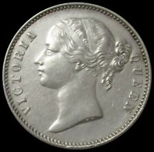 1840 EAST INDIA COMPANY SILVER BRITISH INDIA 1 RUPEE QUEEN VICTORIA COIN