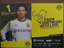 Handsignierte Autogrammkarte ROMAN WEIDENFELLER Borussia Dortmund Asia Tour 2015