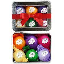 Bath Bomb Gift Set USA - 6 Vegan All Natural Essential Oil Lush Fizzies. Organic