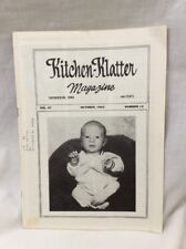 Vintage Kitchen Klatter Magazine local Recipes Shenandoah Iowa October 1983