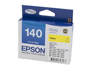 Genuine Epson T1404 (140) H/Y Yellow Ink Cartridge
