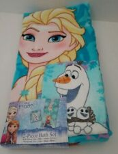 Disney Frozen Snowflake Sisters 2pc Bath Towel & Washcloth Set  **NEW**