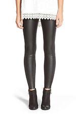 New Womens XL Lysse Leather Leggings Pants Black Suede Faux Soft Vegan
