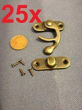 25 sets - latch hook Hinge small mini  Antique wood box Catch Decorative b14