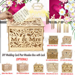 DIY Wedding Card Post / Receiving Box / Wishing Well For Card Wooden Loc