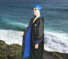 Swim Parka Wazsup Black with Blue Size S (Pool deck coat, swim jacket)