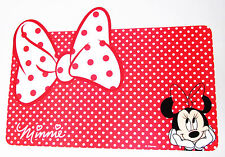 Minnie Mouse Disney Small Pet Puppy Dog Kitten Cat Red Bow Feeding Mat Mb254D