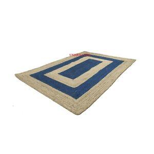 Rug 100% natural jute braided style carpet runner rustic look area rag rugs