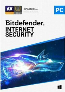 BITDEFENDER  INTERNET SECURITY 2021 - 3 PC FOR 1 YEAR - INCLUDES VPN - DOWNLOAD