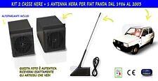 CASSE STEREO CON ANTENNA RADIO STEREO PER KIT AUTORADIO FIAT PANDA 4x4 1986-2003