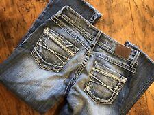 Bke Jean Capris Size 26 Sabrina Stretch Distressed Thick Stitch