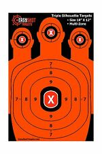 EasyShot Triple Silhouette Shooting Targets | High-Vis Orange B... Free Shipping