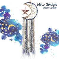 Dreamcatcher Dream Catcher Wall Hanging Decor Large Star Moon Natural Feather-