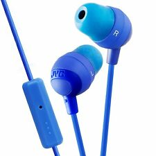 JVC HAFR37A Blue Marshmallow Inner-Ear Earbuds with Remote & Mic