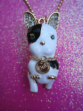 Betsey Johnson Terrier Dog Necklace