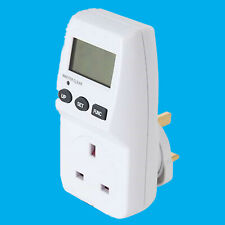 Mains Plug-in Power Consumption Meter Measure Cost of Running Appliance