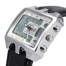 Mens Teenagers Whate Quartz Battery Multifunction Sports school Fashion Watch