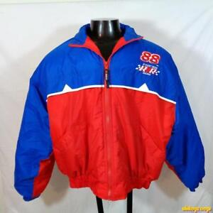 COMPETITORS VIEW NASCAR Racing Dale Jarrett Nylon Jacket Mens Size L Blue/red