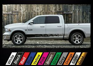 2pcs stickers for Dodge RAM 1500 graphics side stripe decal sticker #5