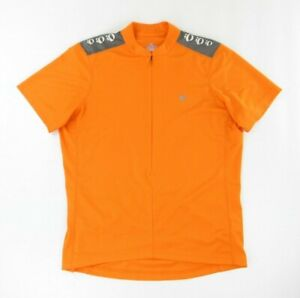 Pearl Izumi Select Series Mens Cycling Jersey L Orange 1/2 Zip Up