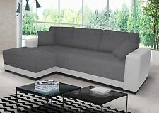 new cimiano leather fabric corner sofa z funkcja spania bed storage black grey
