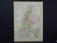 Antique Map, Black's, 1862 Palestine M7#37