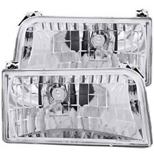 Anzo 111247 Chrome Housing Headlights 1992-1996 Ford F150/F250/F350/Bronco Cryst