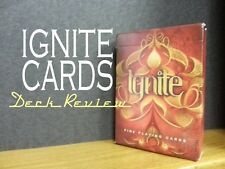 Ignite Single Playing Cards USPCC Deck Ellusionist Poker FIRE New Bicycle