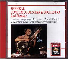 Ravi SHANKAR: Sitar Concerto Morning Love CD Andre PREVIN Jean-Pierre RAMPAL EMI