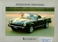 Fiat Spider Spidereuropa Pininfarina 124 Cabrio Spider 4 Farb Prospekt