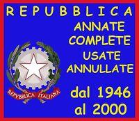 ITALIA REPUBBLICA Annata completa dal 1946 al 2000 Annullate Usate !!