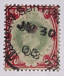Travelstamps: 1902-1911 Great Britain Stamps Scott # 138, One Shilling, Used Ng